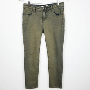 Free people green ankle Length, straight leg.